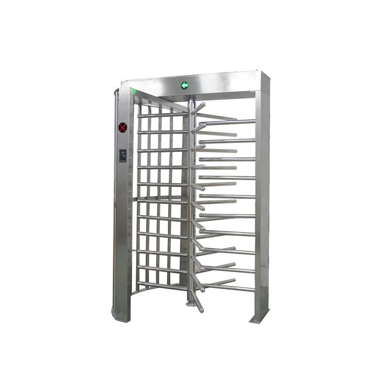 Smart Full Height Turnstile Channel with QR Code Reader