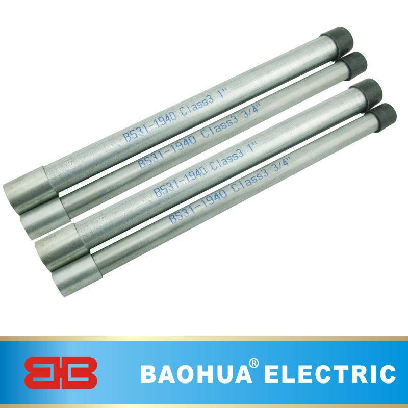 Galvanized steel BS31 conduit