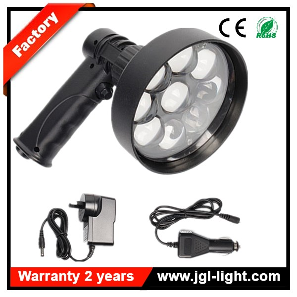 Super bright 27W Rechargeable LED Handheld Spotlight 2200lm LED Hunting Torch