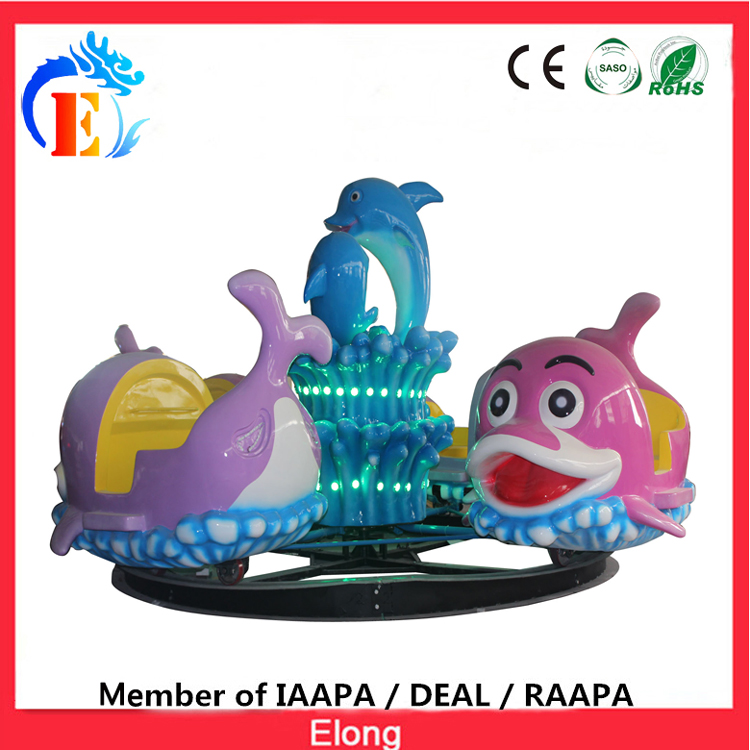 Elong dolphin carousel for kids mini dolphin merry go round, Colorful paradise carousel