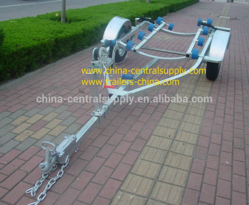 3.8m boat trailer with roller system