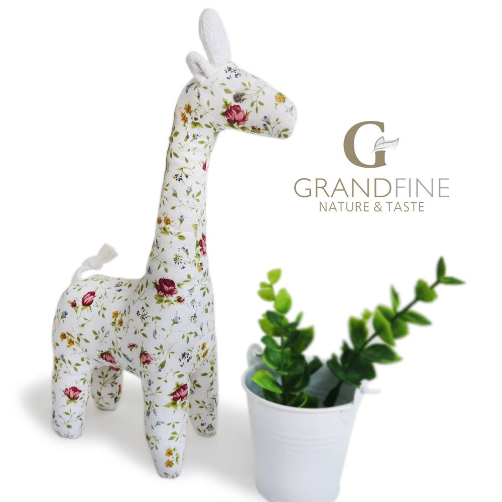 100% cotton stuffed giraffe fabric baby kid toy doll small dolls for kids with EN71 test report and