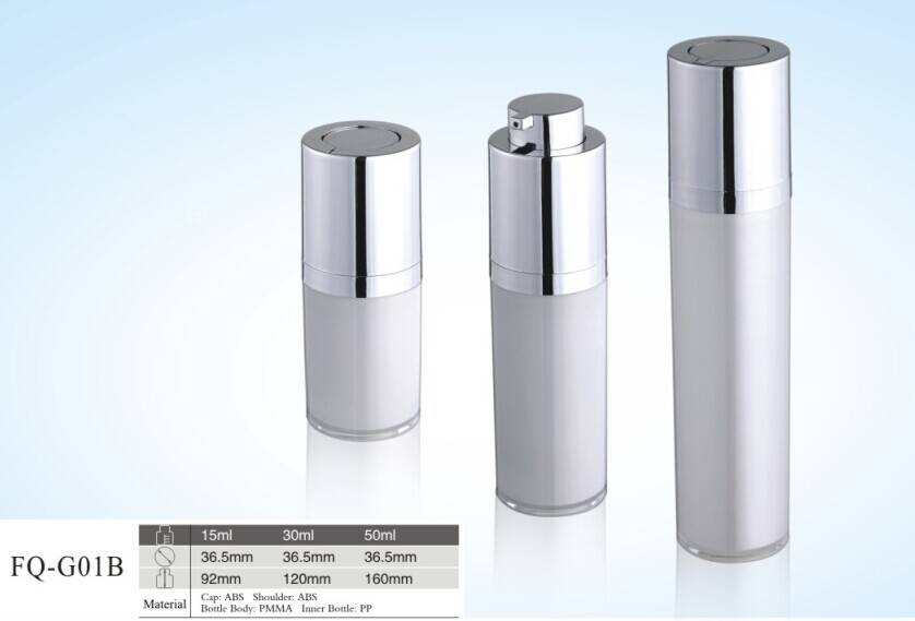<2015 popular style> rotary airless plastic bottle cosmetic packing