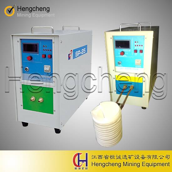 medium frequency small refining equipment scrap gold induction melting furnace