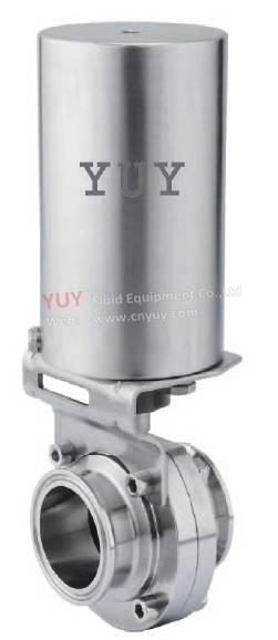 SS304 pneumatic butterfly valve