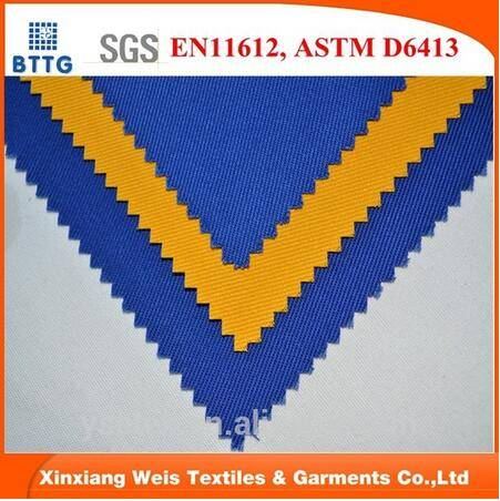 20*16 270gsm CVC flame retardant fabric for garment