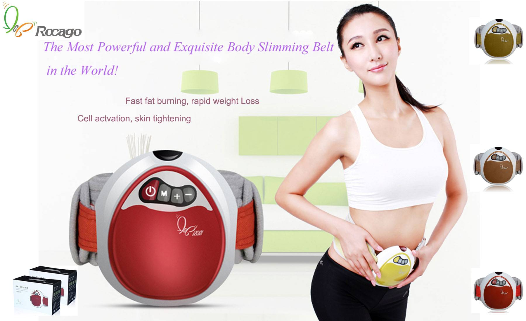 Powerful Slimming Waist Massage Belt
