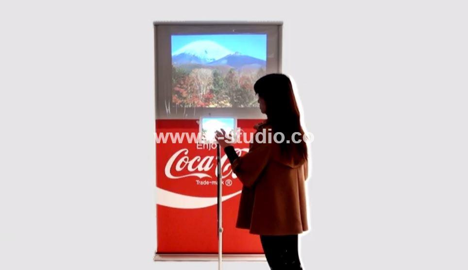 Roll up with video screens by V-Studio