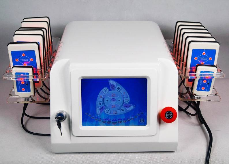 650nm Diode Lippo Laser Lipolysis Slimming Machine LED diodes CE AU-64