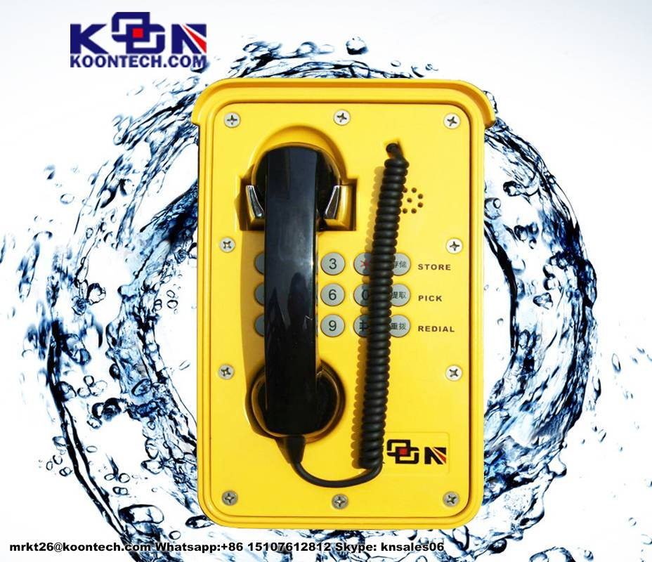 no cover IP66  waterproof telephone  knsp-09