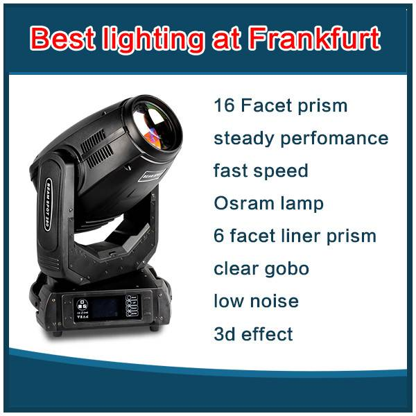 280w beam spot wash 3 in 1 moving head light