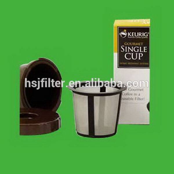 New product in 2015 high quality with plastic material coffee maker filter with golden color mesh