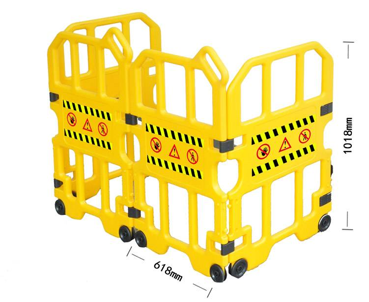 Yellow Fence Safety Barrier Traffic & Warning
