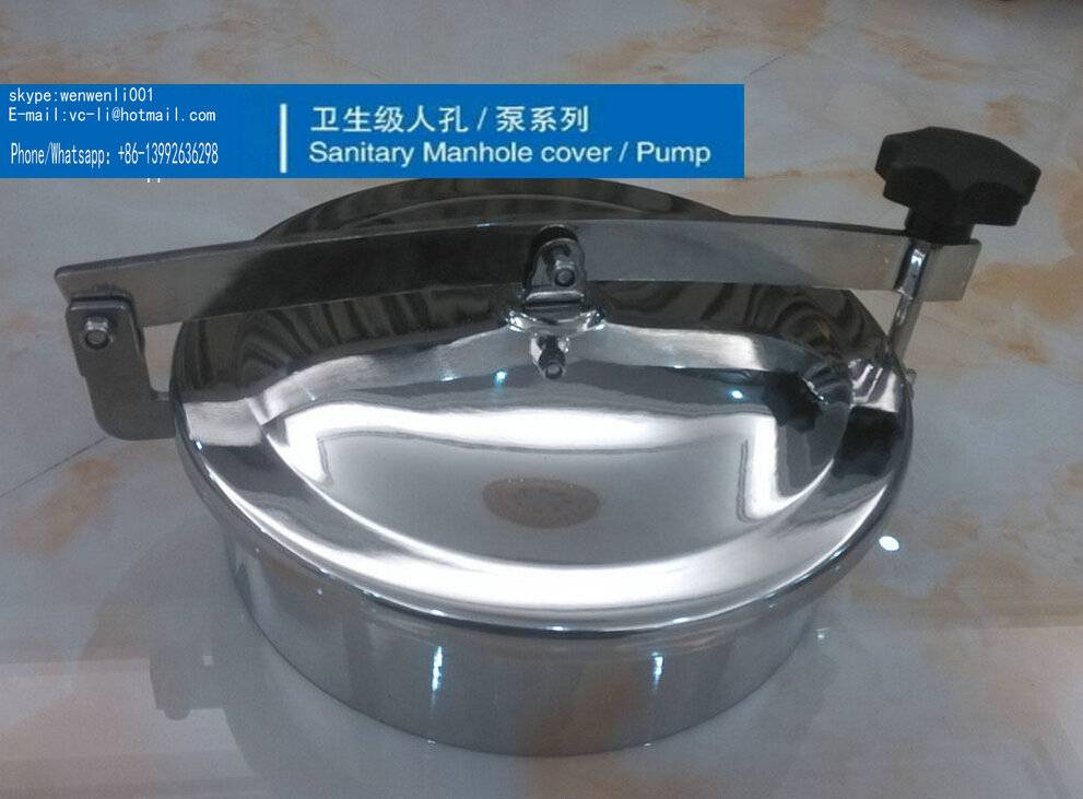 Sanitary stainless steel Cross-Arm Manway manhole, size:300mm ,SS304