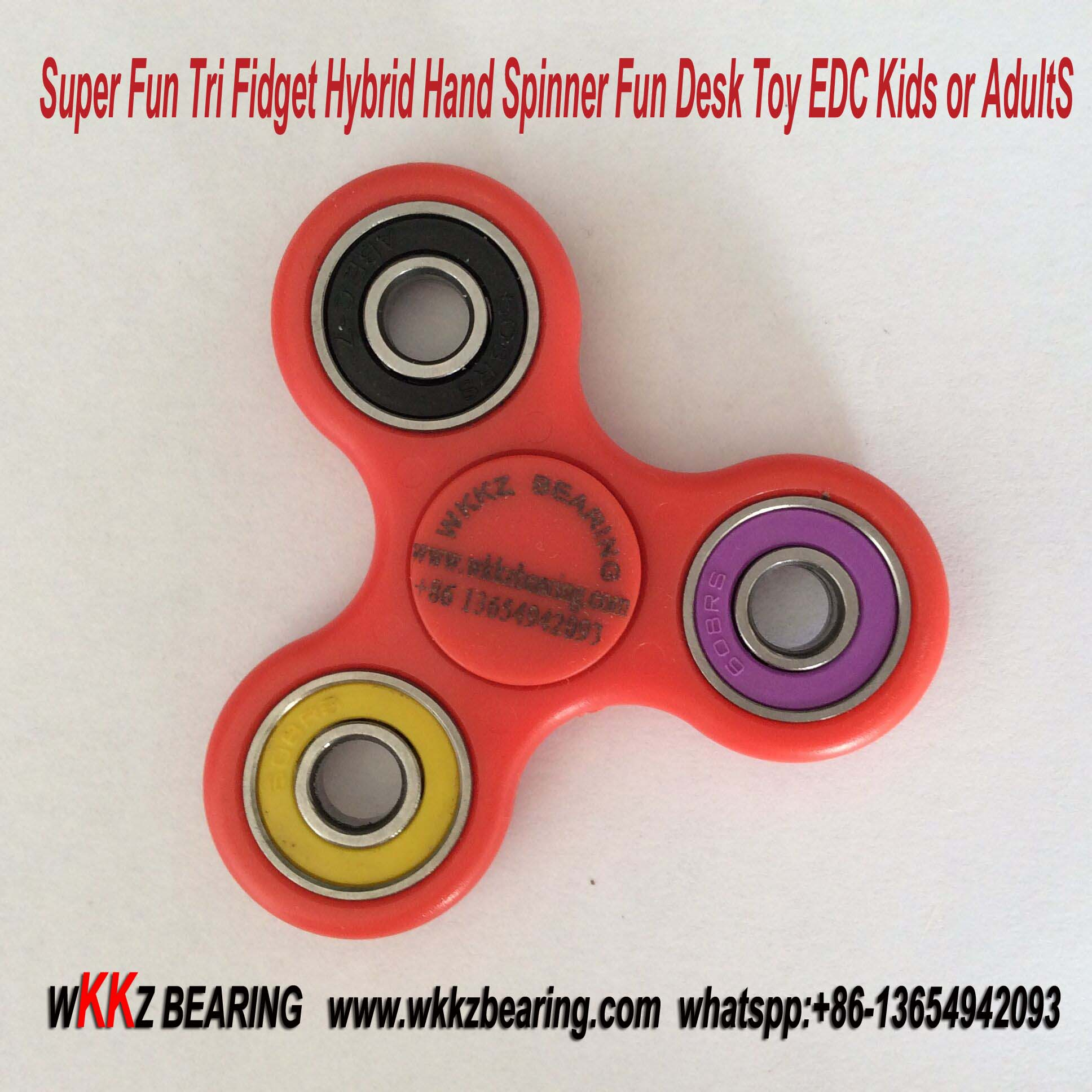 Super Fun Tri Fidget Hybrid Hand Spinner Fun Desk Toy EDC Kids or Adults.