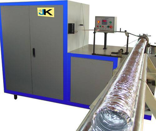 aluminum flexible duct machine