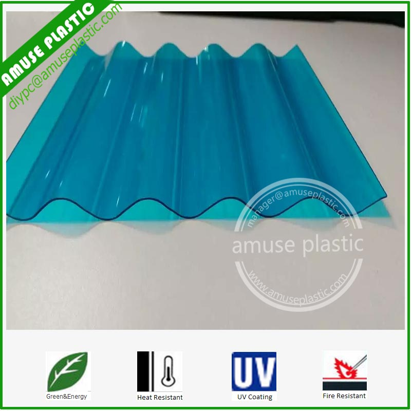 Fire Resistance Polycarbonate Corrugated Sheet PC Hollow Board Solid Panel
