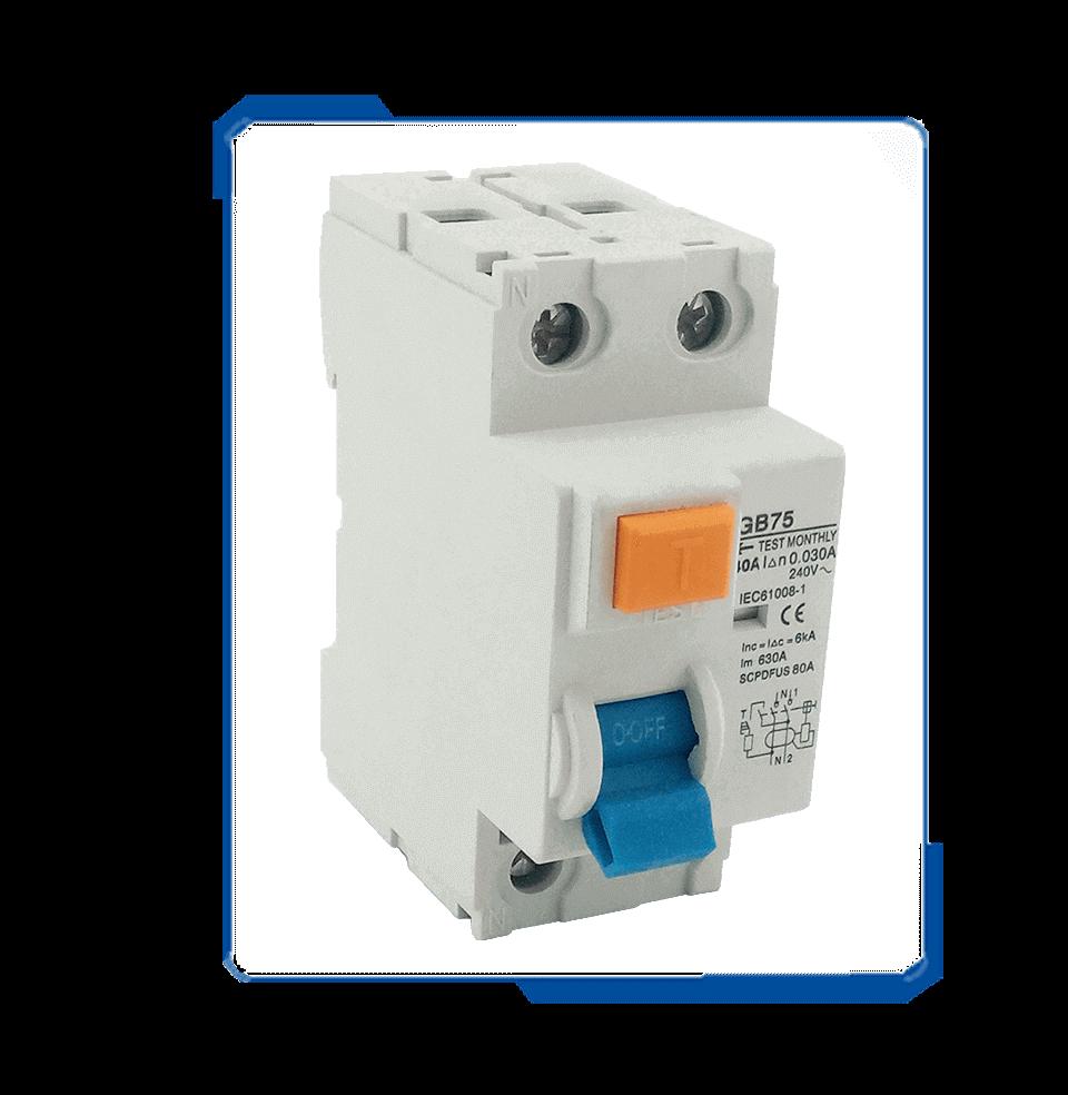 ID rcbo electrical earth leakage residual breaker