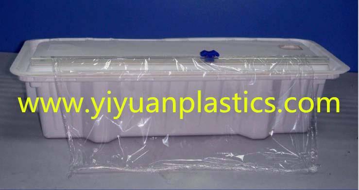 Plastic dispenser for cling film aluminum foil baking paper roll material