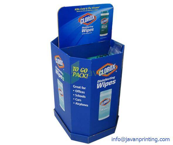 Blue Dump Bins for Disinfecting Wipes