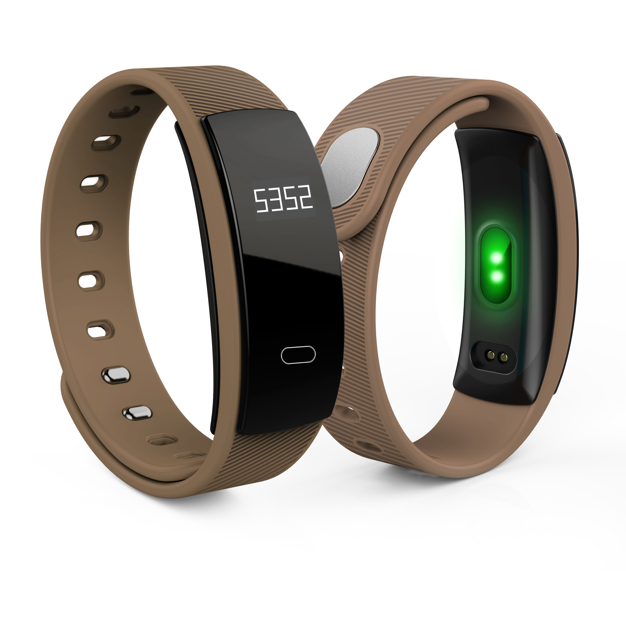 QS80 0.42 inch OLED screen bluetooth ble 4.0 ABS + PC body nordic51822 CPU health wrist band