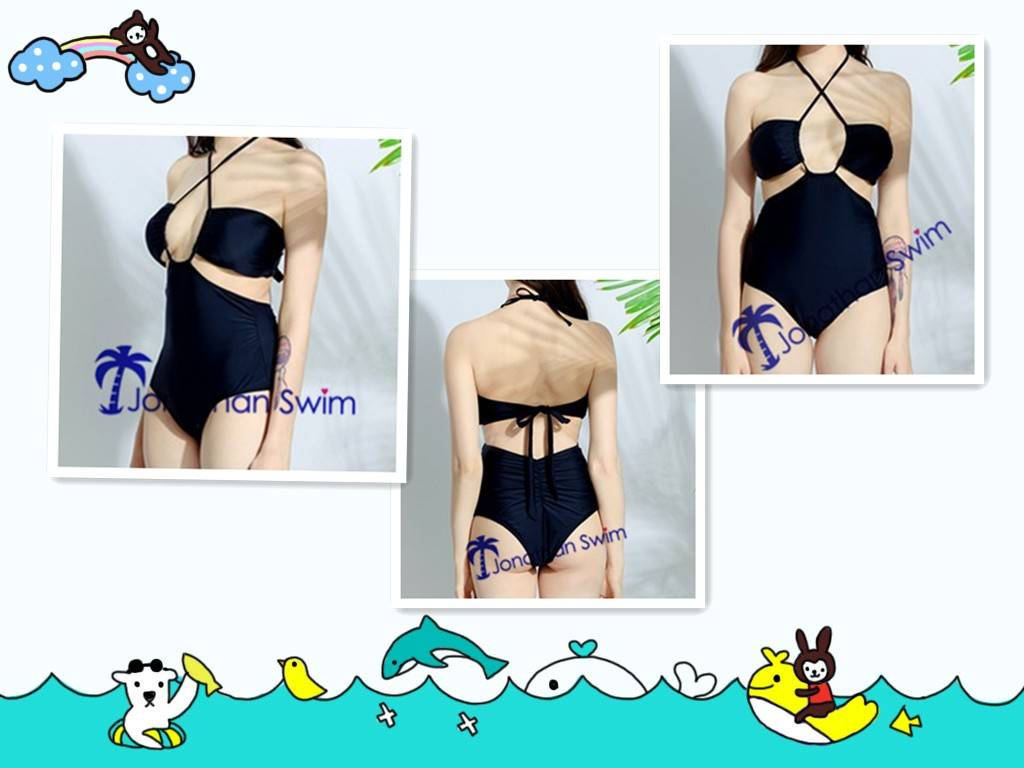Women's Sexy Unique Design Black One Piece Swimsuits.