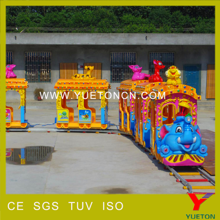 Customized cartoon model shopping mall train, kids electric train sets