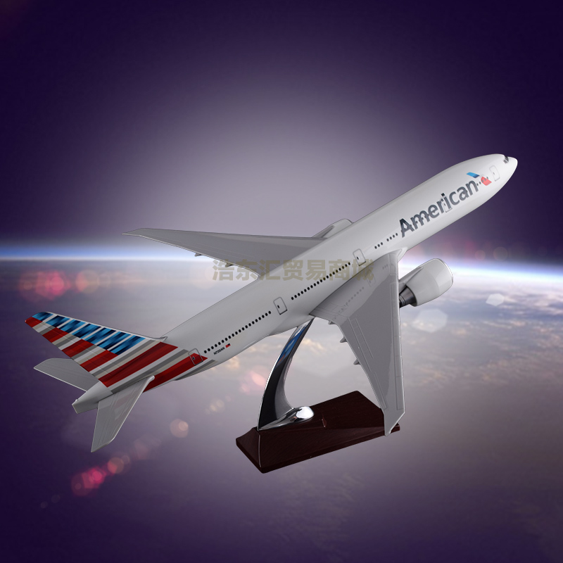 Airplane Model Manufacturer OEM Boeing 777 Display Aircraft Model Resin for Business Gift