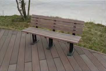 anti stretch wood barefoot friendly chair outdoor patio park bench