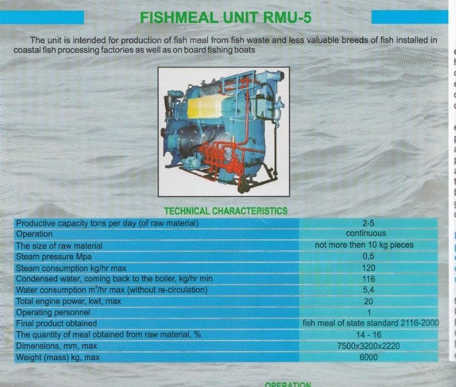 Fishmeal machine RMU-5