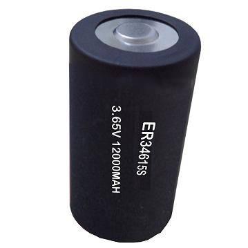 ER34615S-150'C 12000mAh 3.6V high temperature LiSOCL2 battery