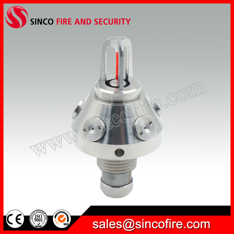 High pressure water mist fire fighting spray nozzle