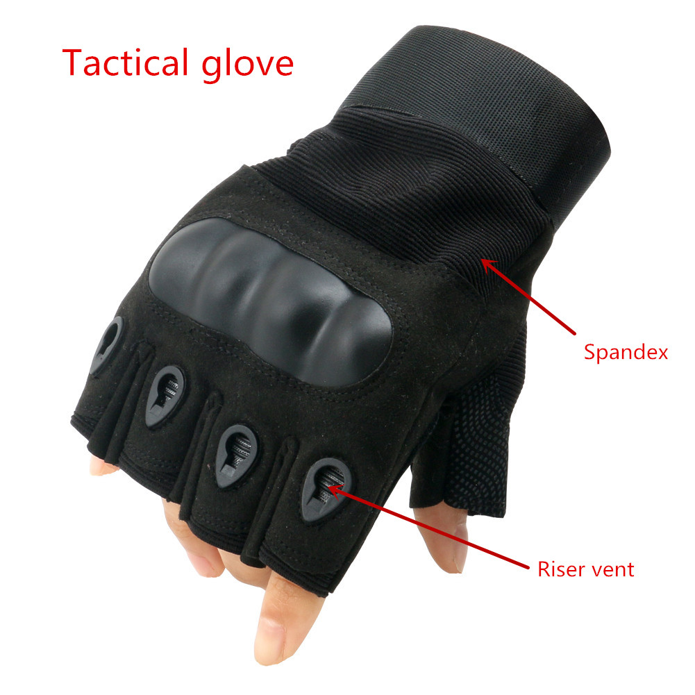 Wholesale high quality tactical military half gloves