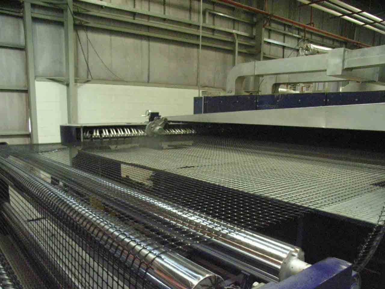 Biaxial geogrid production line