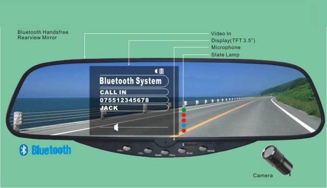 bluetoott rearview mirror car kit