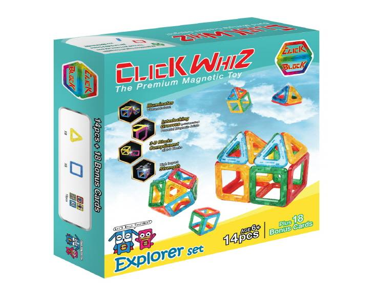 CLICKWHIZ 2D EXPLORER Educational magnetic block toy