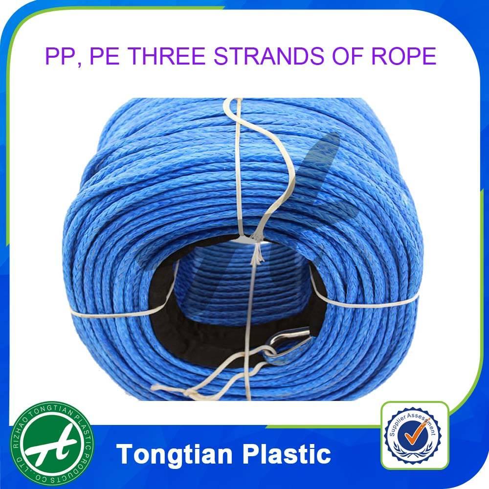 Hollow braid polypropylene rope