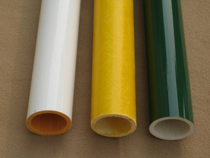 colorful painted glassfiber tube