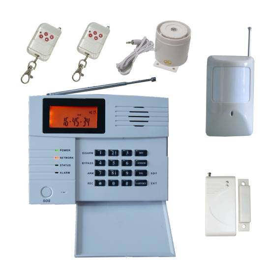 Wireless Intruder Alarm with USB Connection, Big LCD Screen Display, 40 Defence Zones