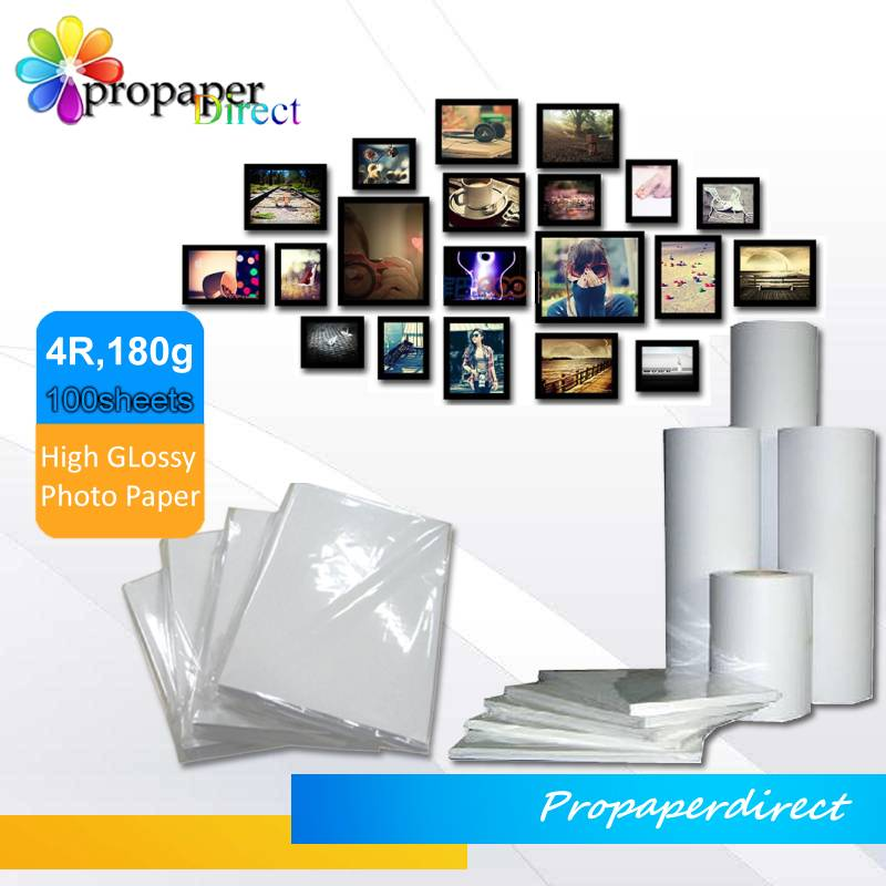 180gsm photo paper glossy 4R*100sheets