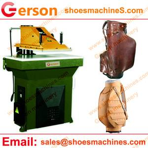 Leather Golf Bags Rydranlic Cutting Machine