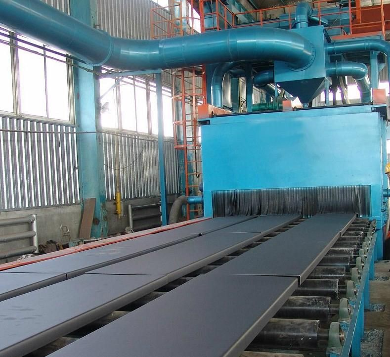 Steel plate surface rust removal machine