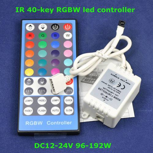 4 Channels LED RGBW Controller with 40keys IR Remote