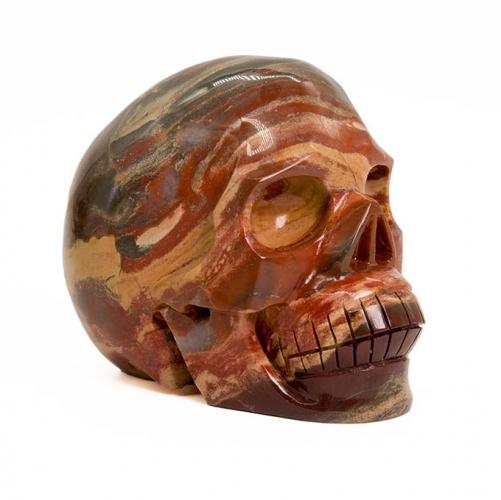 Rainbow Jasper Skulls