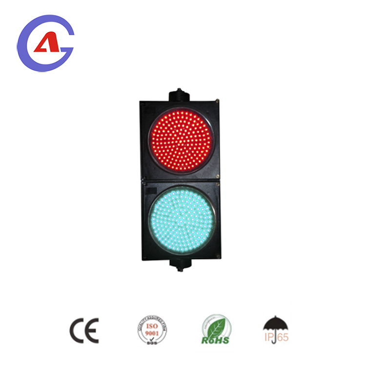 high power led traffic signal light red amber green with Fresnel lens