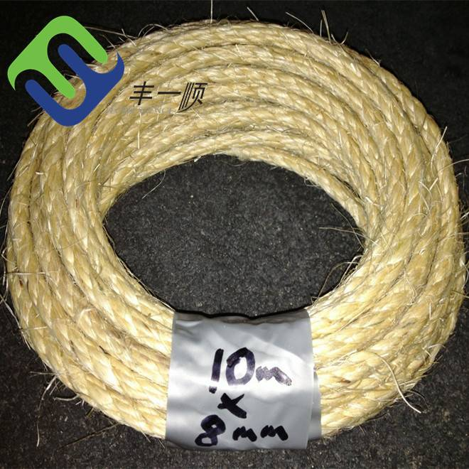 Manufacturer ISO high quality twisted cheap packing colored sisal rope