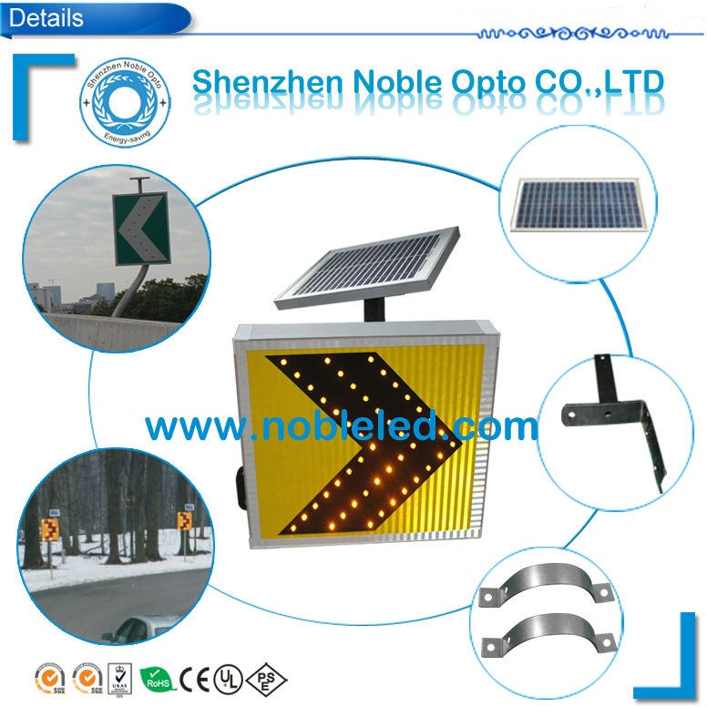 Wireless Led Traffic Guidance Arrow Sign with Solar Panel