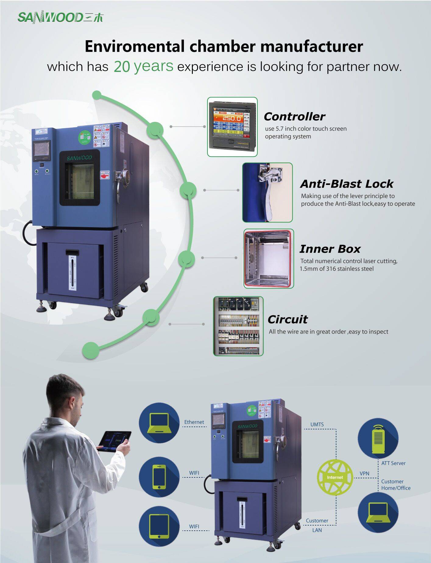 2015 new design environmental test equipment