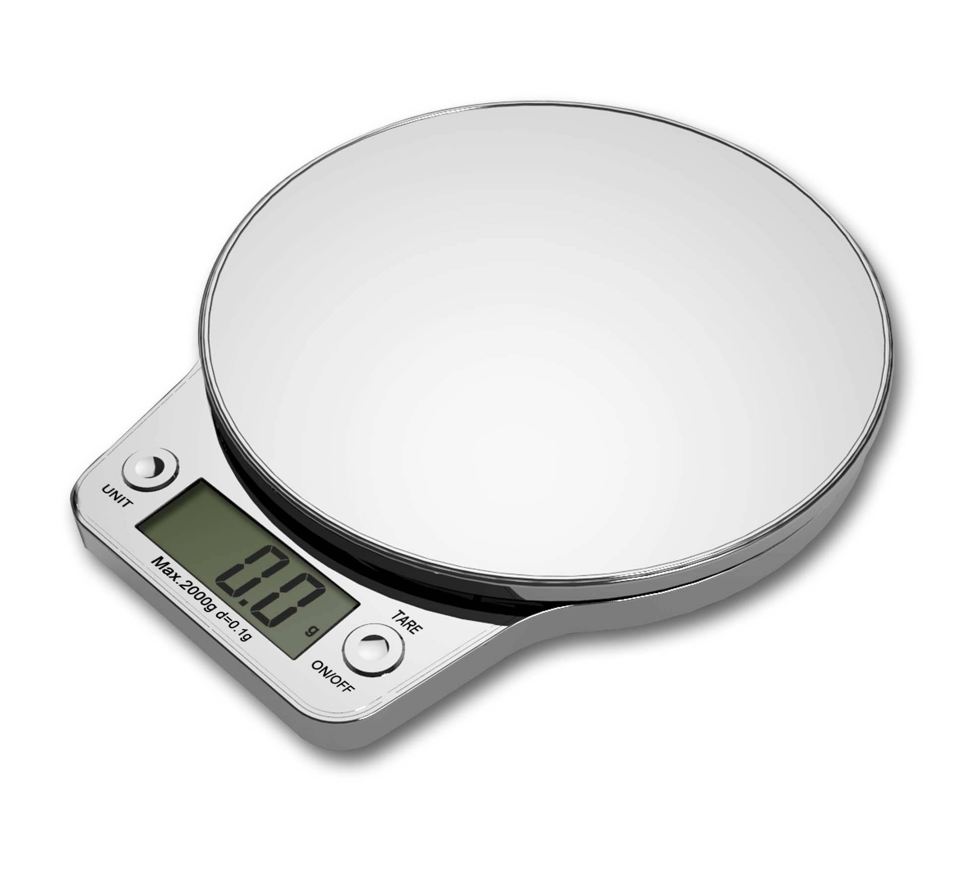 Rounded ABS Plastic Digital kitchen scale VKS302