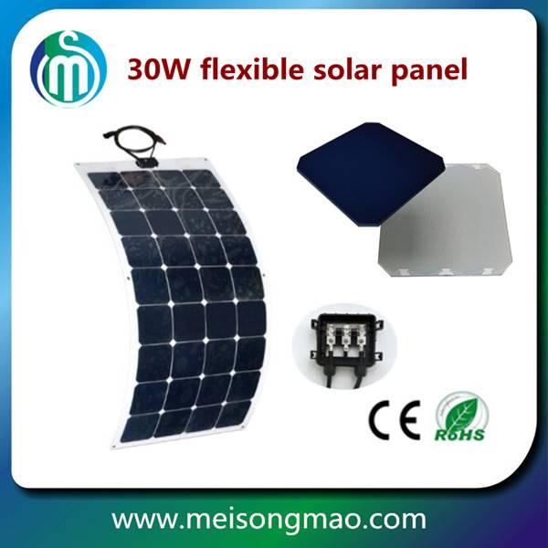 Price per watt flexible solar panel 30W home solar systems